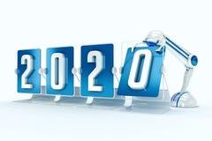 Καλή χρονιά 2020 Διανυσματική απεικόνιση