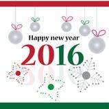 Καλή χρονιά 2016 Στοκ Εικόνες