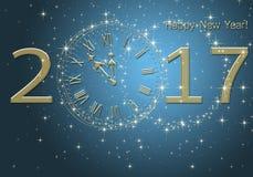 Καλή χρονιά 2017 απεικόνιση αποθεμάτων