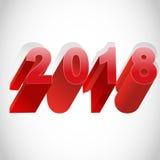 2018 καλή χρονιά Στοκ φωτογραφίες με δικαίωμα ελεύθερης χρήσης