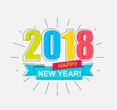 2018 καλή χρονιά Στοκ Εικόνες