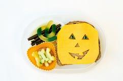 Καλαθάκι με φαγητό για τα παιδιά υπό μορφή τεράτων Στοκ φωτογραφία με δικαίωμα ελεύθερης χρήσης