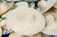 Καλαθοπλεκτική καπέλων Στοκ φωτογραφίες με δικαίωμα ελεύθερης χρήσης