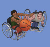 Καλαθοσφαίριση αναπηρικών καρεκλών Στοκ Εικόνα