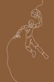 Καλαθοσφαίριση Γραμμική γραμμή γραφική Στοκ φωτογραφίες με δικαίωμα ελεύθερης χρήσης
