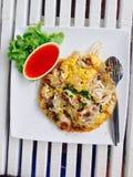 Καλαμάρι που τηγανίζεται στο κτύπημα αυγών Στοκ φωτογραφία με δικαίωμα ελεύθερης χρήσης