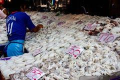 Καλαμάρι στη φρέσκια αγορά Στοκ φωτογραφίες με δικαίωμα ελεύθερης χρήσης