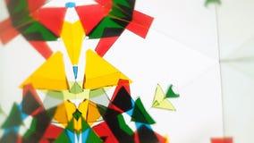 Καλειδοσκόπιο γυαλιού χρώματος απόθεμα βίντεο