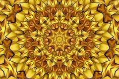 Καλειδοσκόπιο καφετί και κίτρινο Στοκ εικόνα με δικαίωμα ελεύθερης χρήσης