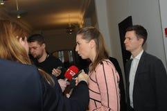 Κα ΗΓΈΤΗΣ ΔΗΜΟΚΡΑΤΏΝ METTE FREDERIKSEN_SOCIAL Στοκ Φωτογραφίες