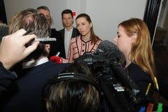 Κα ΗΓΈΤΗΣ ΔΗΜΟΚΡΑΤΏΝ METTE FREDERIKSEN_SOCIAL Στοκ φωτογραφίες με δικαίωμα ελεύθερης χρήσης