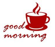 καλημέρα καφέ ελεύθερη απεικόνιση δικαιώματος