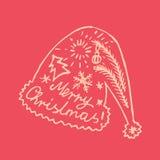 Καλλιγραφική εγγραφή Χριστουγέννων με ένα σχέδιο Στοκ εικόνα με δικαίωμα ελεύθερης χρήσης