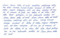 Καλλιγραφική χειρόγραφη σύσταση χειρογράφων γραφής επιστολών Στοκ φωτογραφία με δικαίωμα ελεύθερης χρήσης