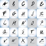 Καλλιγραφικό διανυσματικό σύνολο λογότυπων στοιχείων σχεδίου αλφάβητου και λογότυπων Στοκ φωτογραφία με δικαίωμα ελεύθερης χρήσης