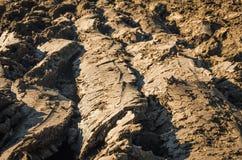 καλλιεργήσιμο γήινο καλό έδαφος ανασκόπησης που οργώνεται Στοκ Φωτογραφίες