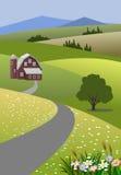 καλλιεργήστε το τοπίο διανυσματική απεικόνιση