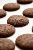 Καλλιεργημένη εικόνα των μπισκότων σοκολάτας Στοκ εικόνα με δικαίωμα ελεύθερης χρήσης