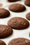 Καλλιεργημένη εικόνα των μπισκότων σοκολάτας στοκ εικόνες