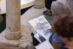 Καλλιτέχνες οδών στη Βενετία, Ιταλία Στοκ εικόνες με δικαίωμα ελεύθερης χρήσης