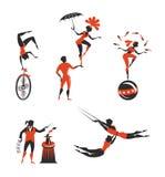 Καλλιτέχνες τσίρκων Στοκ Εικόνες