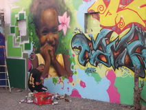 Καλλιτέχνης γκράφιτι Στοκ φωτογραφίες με δικαίωμα ελεύθερης χρήσης
