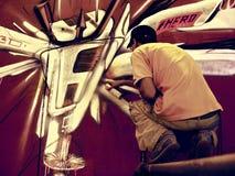 Καλλιτέχνης γκράφιτι Στοκ Φωτογραφία