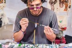 Καλλιτέχνης γυαλιού στην από την Ανατολία έκθεση πολιτισμού Στοκ Φωτογραφίες