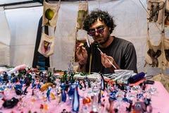 Καλλιτέχνης γυαλιού στην από την Ανατολία έκθεση πολιτισμού Στοκ φωτογραφία με δικαίωμα ελεύθερης χρήσης