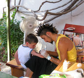 Καλλιτέχνης δερματοστιξιών παιδιών Στοκ Εικόνα