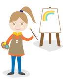 Καλλιτέχνης κοριτσιών απεικόνιση αποθεμάτων