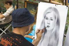 Καλλιτέχνης οδών Στοκ Εικόνες