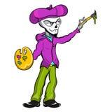 Καλλιτέχνης σκελετών Zombie Στοκ φωτογραφία με δικαίωμα ελεύθερης χρήσης