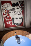 Καλλιτεχνικές τοιχογραφίες στην πλατεία Capitole Στοκ εικόνα με δικαίωμα ελεύθερης χρήσης