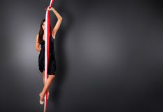καλλιτεχνική γυμναστική στοκ εικόνες με δικαίωμα ελεύθερης χρήσης