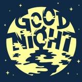 Καλλιτεχνική δροσερή κωμική εγγραφή καληνύχτας Στοκ φωτογραφία με δικαίωμα ελεύθερης χρήσης