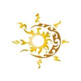 Καλλιτεχνικοί ήλιος και φεγγάρι ελεύθερη απεικόνιση δικαιώματος