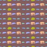Καλλιτεχνικό άνευ ραφής σχέδιο κτυπήματος βουρτσών Διανυσματική απεικόνιση