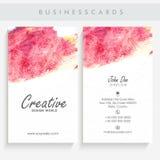 Καλλιτεχνικό σύνολο καρτών επιχειρήσεων ή επίσκεψης Στοκ Φωτογραφίες