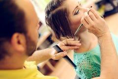 καλλιτεχνικό τέμνον διάνυσμα απεικόνισης τριχώματος hairdress Στοκ φωτογραφίες με δικαίωμα ελεύθερης χρήσης