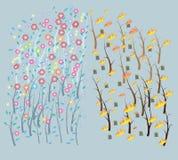 Καλλιτεχνικό υπόβαθρο λουλουδιών με την έννοια που είναι κόσμος Στοκ φωτογραφίες με δικαίωμα ελεύθερης χρήσης