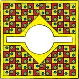 Καλλιτεχνικό χρωματισμένο πλαίσιο σχεδίων Στοκ Φωτογραφία