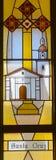 Καλιφορνέζικο λεκιασμένο αποστολή παράθυρο γυαλιού Στοκ εικόνα με δικαίωμα ελεύθερης χρήσης