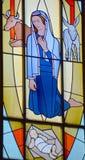 Καλιφορνέζικο λεκιασμένο αποστολή παράθυρο γυαλιού Στοκ φωτογραφίες με δικαίωμα ελεύθερης χρήσης