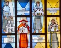 Καλιφορνέζικο λεκιασμένο αποστολή παράθυρο γυαλιού Στοκ Εικόνες