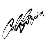 Καλιφόρνια Σύγχρονη εγγραφή χεριών καλλιγραφίας για την τυπωμένη ύλη Serigraphy απεικόνιση αποθεμάτων