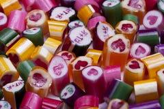 Καλοί κάλαμοι καραμελών καρδιών Στοκ εικόνα με δικαίωμα ελεύθερης χρήσης