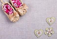 Καλοί κάλαμοι καραμελών καρδιών Στοκ Εικόνες