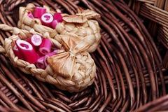 Καλοί κάλαμοι καραμελών καρδιών Στοκ εικόνες με δικαίωμα ελεύθερης χρήσης
