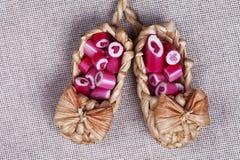Καλοί κάλαμοι καραμελών καρδιών Στοκ φωτογραφία με δικαίωμα ελεύθερης χρήσης